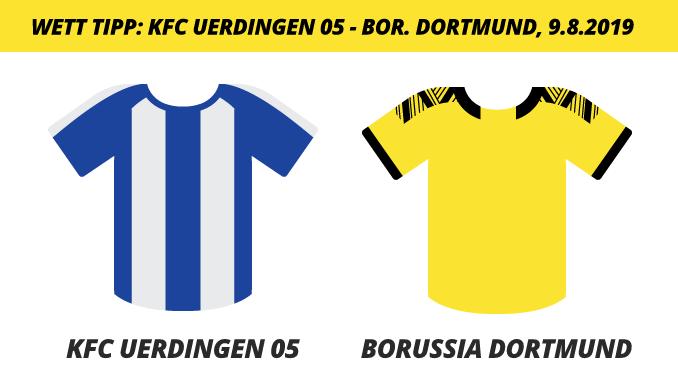 Wett Tipp: KFC Uerdingen 05 vs. Borussia Dortmund, 9.8.2019 (Prognose, Tipps & Quoten)