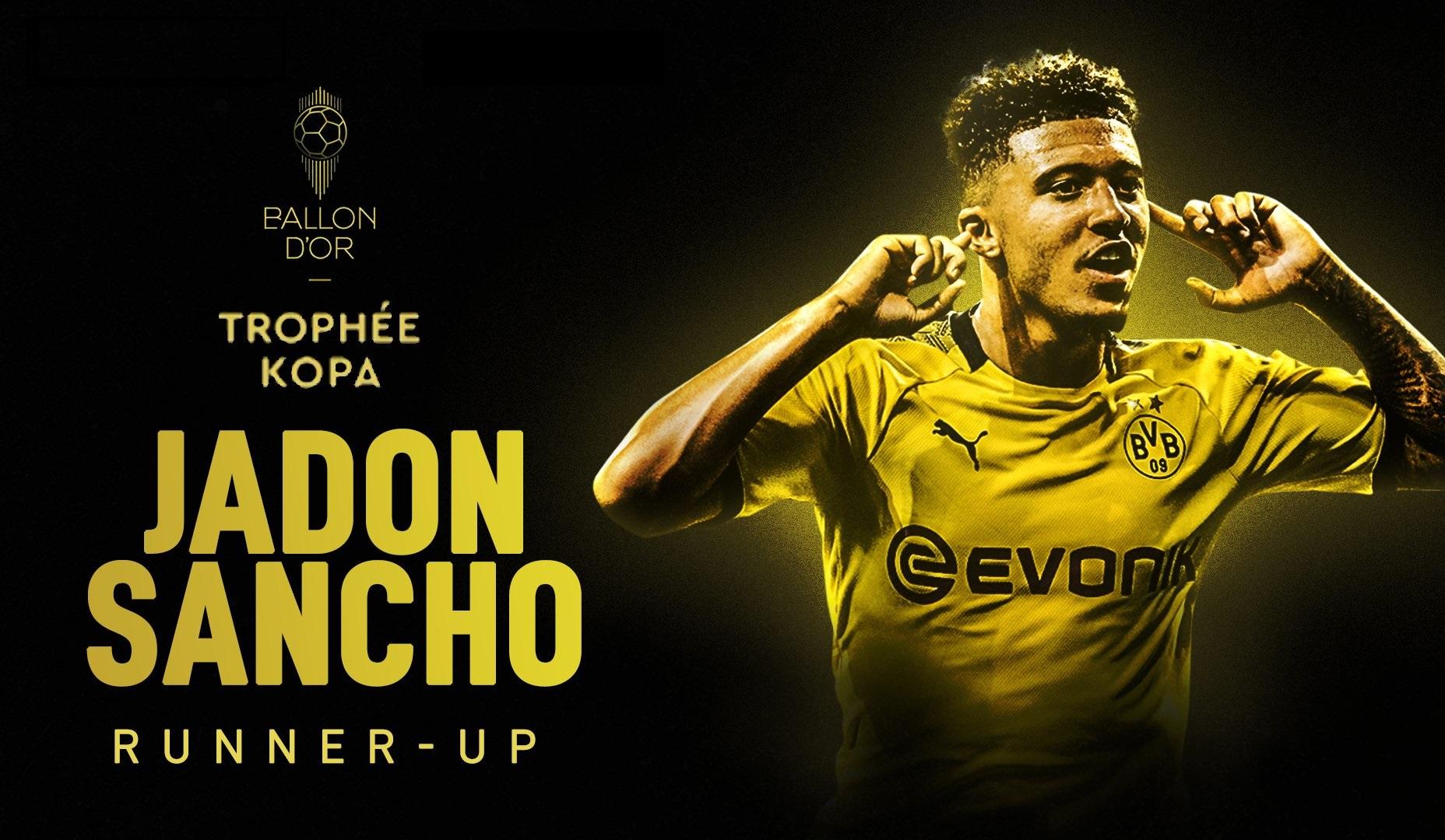 Kopa Trophy: Jadon Sancho landet auf dem 2. Platz