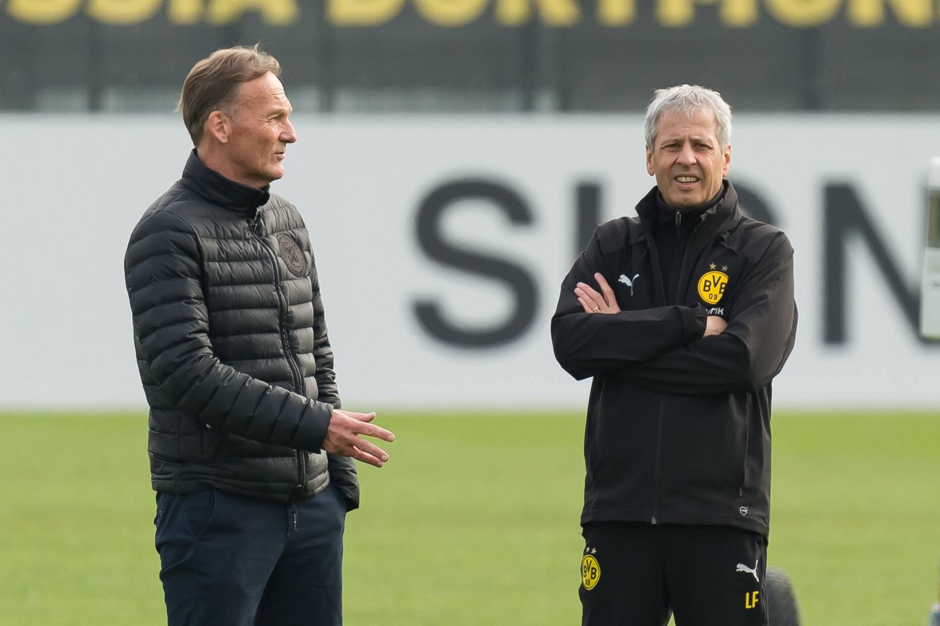 Hans-Joachim Watzke und Luvien Favre