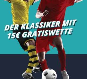 BVB vs. FCB: Sichere dir zum Spitzenspiel eine 15 Euro Gratiswette!
